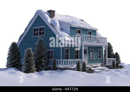 Three dimensional house - Stock Photo