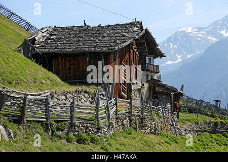 old mountain farm in South Tyrol, - Stock Photo