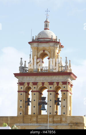 Spain, Andalusia, Cordoba, bell tower in the Old Town, - Stock Photo