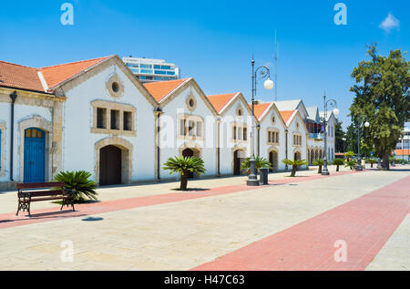 The Europe Square located next to Larnaca Marina is the nice place for daily walks, Cyprus. - Stock Photo