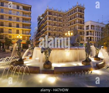 Spain, Valencia, plaza de la Virgen, wells, - Stock Photo