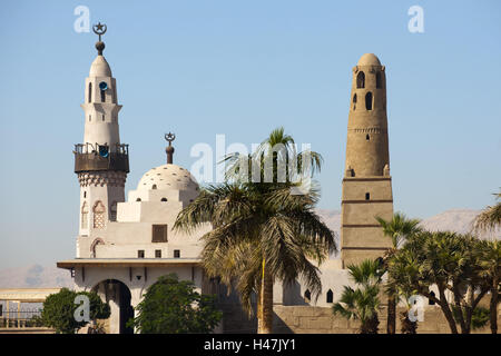 Egypt, Luxor, mosque the saint Abu el-Haggag on the area the Luxor temple, - Stock Photo