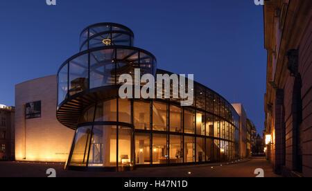 Berlin, Zeughaus, Deutsches Historisches Museum, Pei building, panorama, evening, - Stock Photo