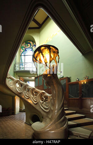 Moscow, art nouveau villa, inside, stairwell, - Stock Photo