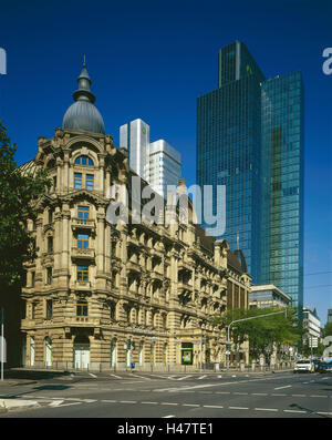 Germany, Hessen, Frankfurt on the Main, bank, the Dresdner Bank, architecture, differently, metropolis, financial - Stock Photo