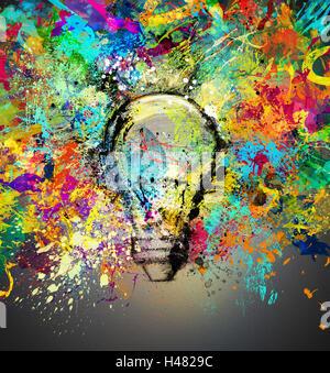 Creative and colorful idea - Stock Photo