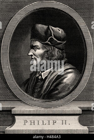 Philip II (1165 -1223) a member of the Capetian dynasty, known as Philip Augustus, king of France from 1180. - Stock Photo