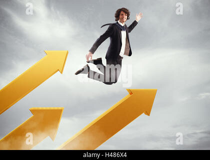 Go over to success - Stock Photo