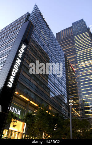 Japan, Tokyo, part town Roppongi, Midtown west, Midtown Tower, sign, Asia, Eastern Asia, town, capital, building, - Stock Photo