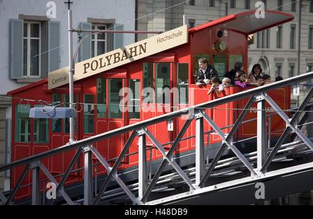Switzerland, Zurich, polytrajectory, tourist, no model release, no property release, town, part town, city, polyterrace, - Stock Photo