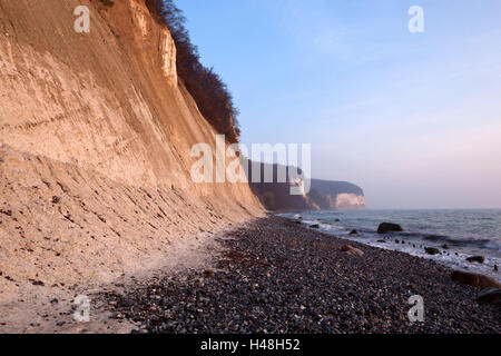The Baltic Sea, National Park Jasmund, chalk rocks, - Stock Photo