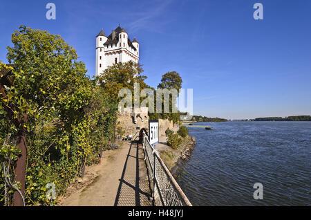 Germany, Hesse, Rheingau (region), Eltville am Rhein (village), Electoral Castle Eltville Rhine, - Stock Photo