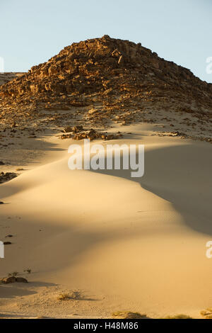 Egypt, Sinai, desert in the street Milga to Nuweiba on the east coast, - Stock Photo