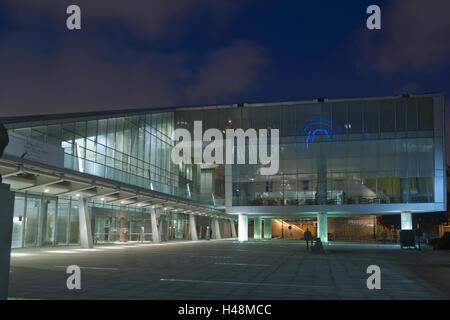 Egypt, Alexandria, Bibliotheca Alexandrina, in the evening, - Stock Photo