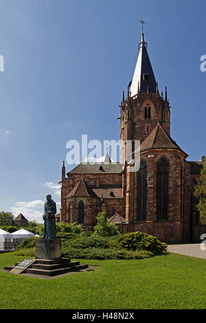 France, Alsace, Wissembourg, white castle, white castle, church St. Peter and Paul, abbey church Saints-Pierre-et - Stock Photo