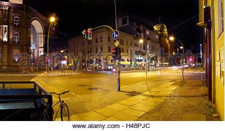 Germany, Berlin, Spandauer Vorstadt, Oranienburger Strasse, historical Jewish quarter of Berlin, big synagogue, - Stock Photo