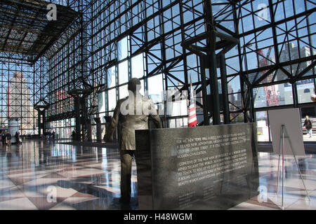 The USA, New York city, Jacob K. Javits Convention Center, lobby, statue, North America, town, place of interest, - Stock Photo