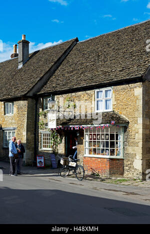 Bakery shop in the village of Lacock, Wiltshire, England UK - Stock Photo