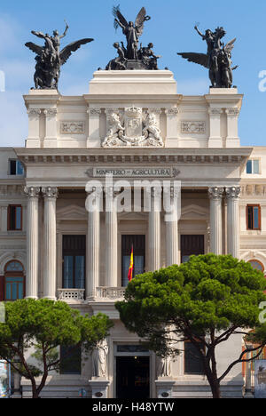 Beautiful government palace facade the Ministry of Agriculture building (Ministerio de Agricultura). - Stock Photo