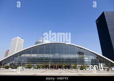 CNIT in the La Defense district, the biggest business zone in Paris, France, - Stock Photo