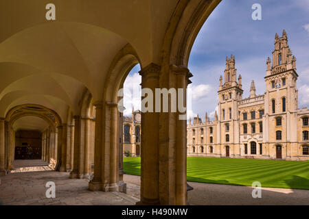 Historic All Souls College in Oxford, Oxfordshire, England. - Stock Photo