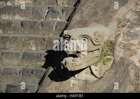 Temple of Quetzalcoatl,Teotihuacan. - Stock Photo