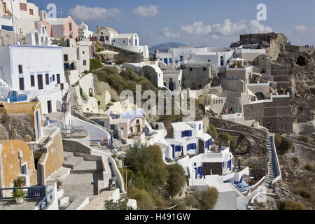 Greece, the Cyclades, island Santorin, Oia, local overview, - Stock Photo