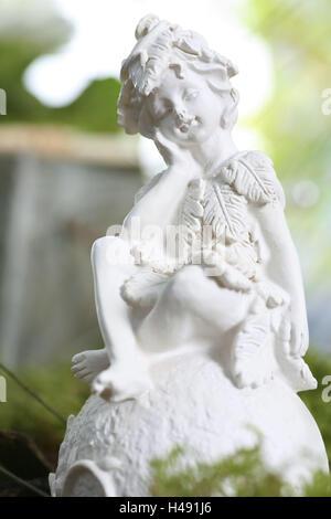 Garden figure, figure, garden, elf, - Stock Photo
