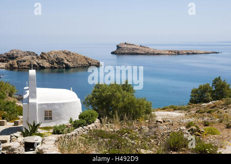Greece, the Cyclades, Mykonos, agio Sostis, band, - Stock Photo