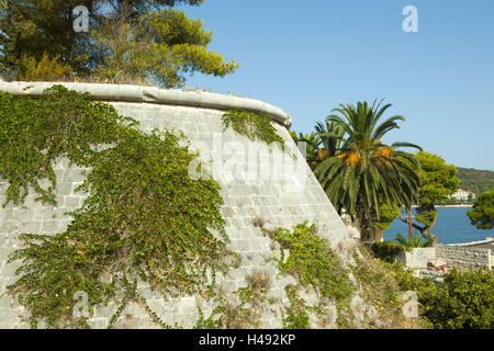 Croatia, Dalmatia, Vis, fortress attack the fortifications established by the Austrians, in 1830, - Stock Photo