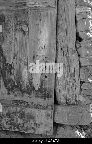 old farm, detail, stable door, - Stock Photo
