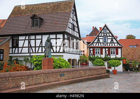 Germany, Rhineland-Palatinate, Speyer, Old Town, - Stock Photo