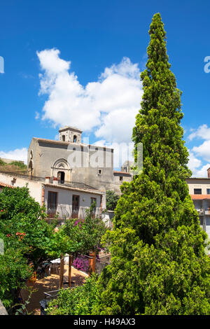 The medieval village of Savoca high in the Peloritani mountains on the island of Sicily, Italy. - Stock Photo