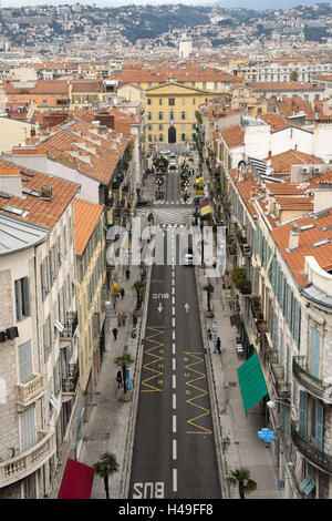 France, Cote d'Azur, Nice, town view, from the museum seen, - Stock Photo