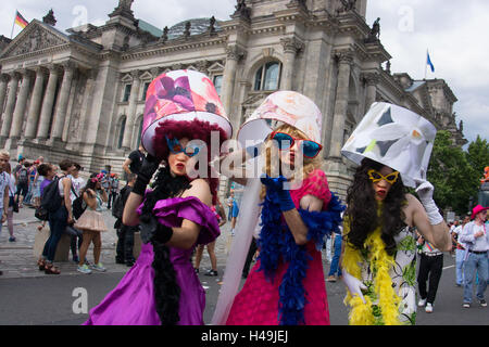 Germany, Berlin, Christopher Street Day in 2012, - Stock Photo