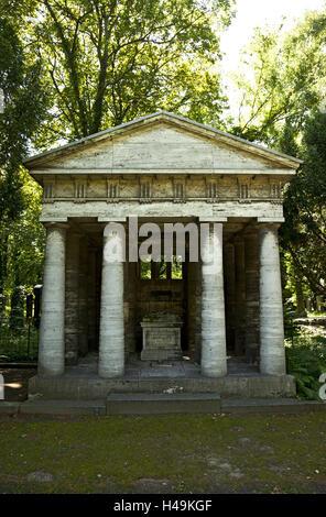 Historically, cemetery, temple, Judaism, - Stock Photo