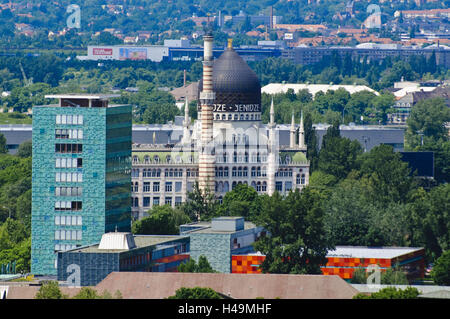 House of the press and Yenidze, Dresden, Saxony, Germany, - Stock Photo