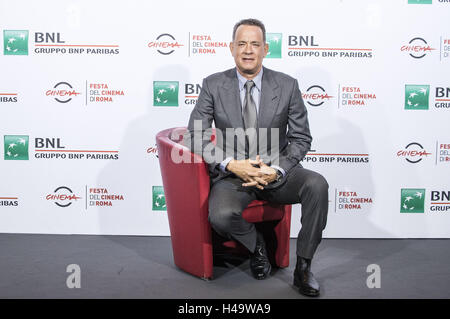 Rome, Italy. 13th Oct, 2016. Tom Hanks attends a photocall during the 11th Rome Film Festival on October 13, 2016 in Rome, Italy. | Verwendung weltweit © dpa/Alamy Live News