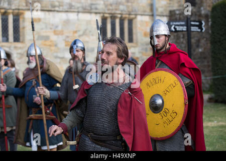 Battle, England. 14th October 2016, The March into 1066 concludes at Battle,On 25th September, a band of 1066 warriors - Stock Photo