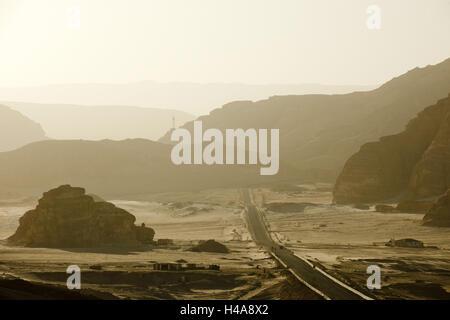 Egypt, Sinai, Wüstenstrasse Milga to Nuweiba on the east coast, - Stock Photo