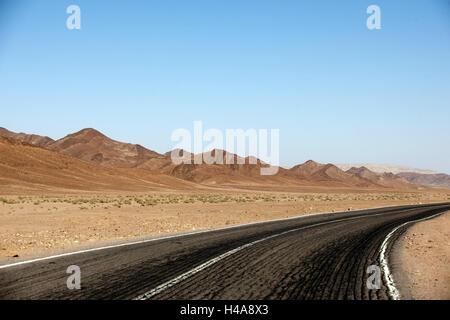 Egypt, Sinai, street Milga to Nuweiba on the east coast, - Stock Photo