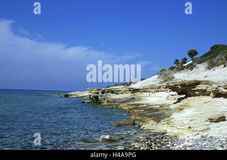 Greece, Dodekanes, island Fondling, coast, agio Theologos, sea, island group, Mediterranean island, the Aegean Sea, - Stock Photo