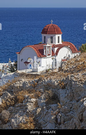 Greece, Karpathos, Nicholas's church of Pigadia, - Stock Photo