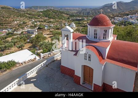 Greece, Karpathos, Aperi, chapel, overview, - Stock Photo