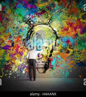 Paint a creative idea - Stock Photo