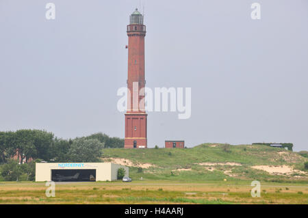 Germany, Lower Saxony, North Sea island, Norderney, lighthouse, airfield, - Stock Photo