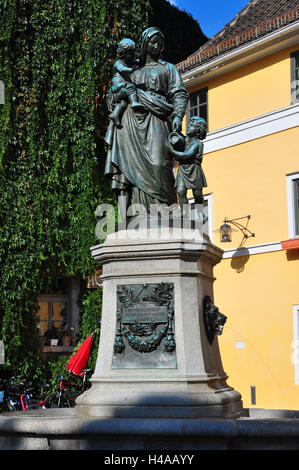 Germany, Thuringia, Weimar, space the world, bronze freeze frame, Stock Photo