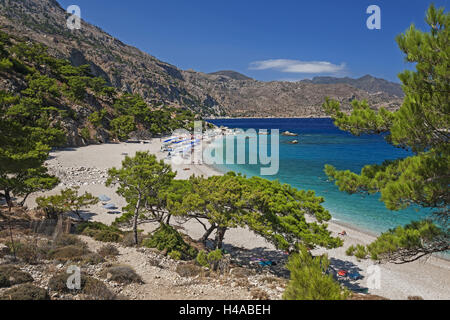 Greece, Karpathos, Apella, bathing bay, overview, - Stock Photo
