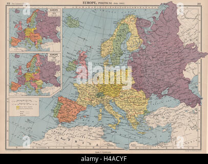 WORLD In Third Reich Japanese Occupied China Vichy France - Third reich map 1944