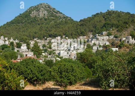 Turkey, province of Mugla, Fethiye, Kayaköy, exited Greek village, - Stock Photo